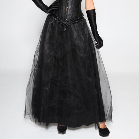 Atomic Maxi Long Black Tulle Skirt