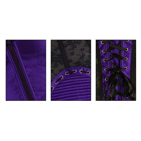 Purple Satin Shapewear Corset