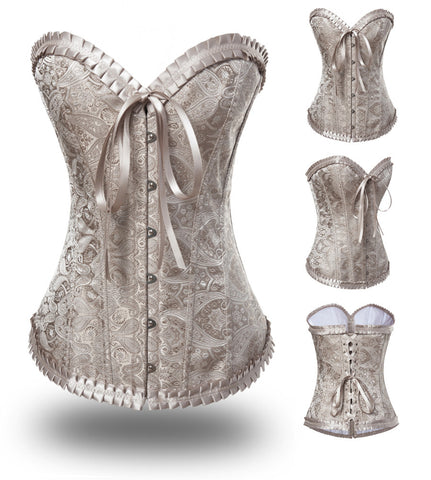 Atomic Apricot Sweetheart Overbust Corset