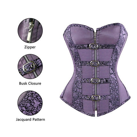 Two Piece Victorian Inspired  Lavender Corset and Skirt Set