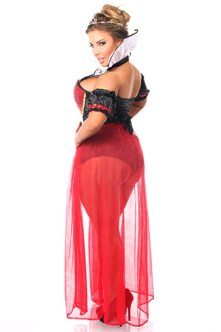 Top Drawer Premium Red and Black Queen Costume
