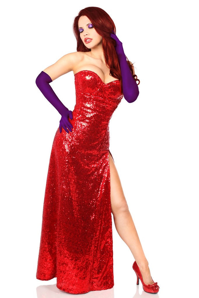 d500b9734 Top Drawer Premium Jessica Rabbit Inspired Corset Costume