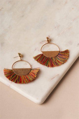 Festive Fringe Dangle Earrings