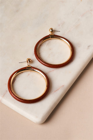 Statement Cylinder Hoop Earrings