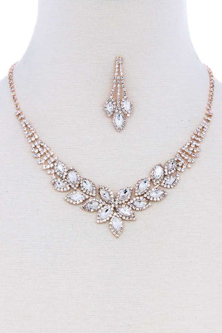 Zirconia Necklace Bracelet And Earring Set