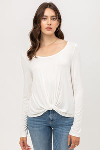 White Front Twisted Top