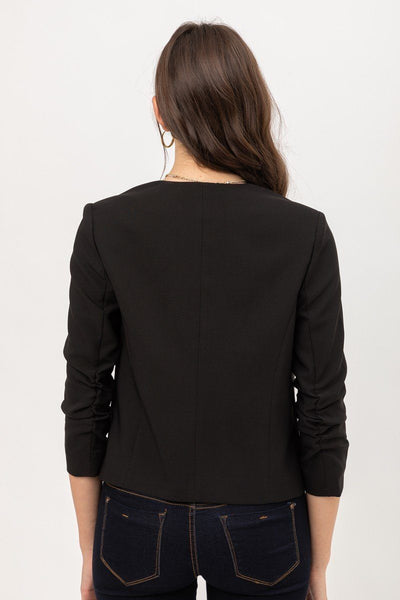 Sleek Black Vertigo Blazer