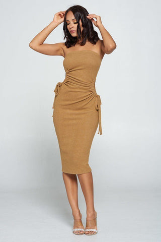 Now You See Me Bronze Bodycon Dress