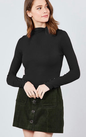 Fall Black Mock Turtleneck