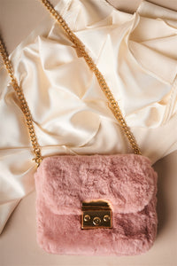 Luxury Faux Fur Clutch Crossbody Bag