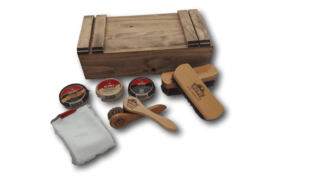 shoe shine kit brushes and polish