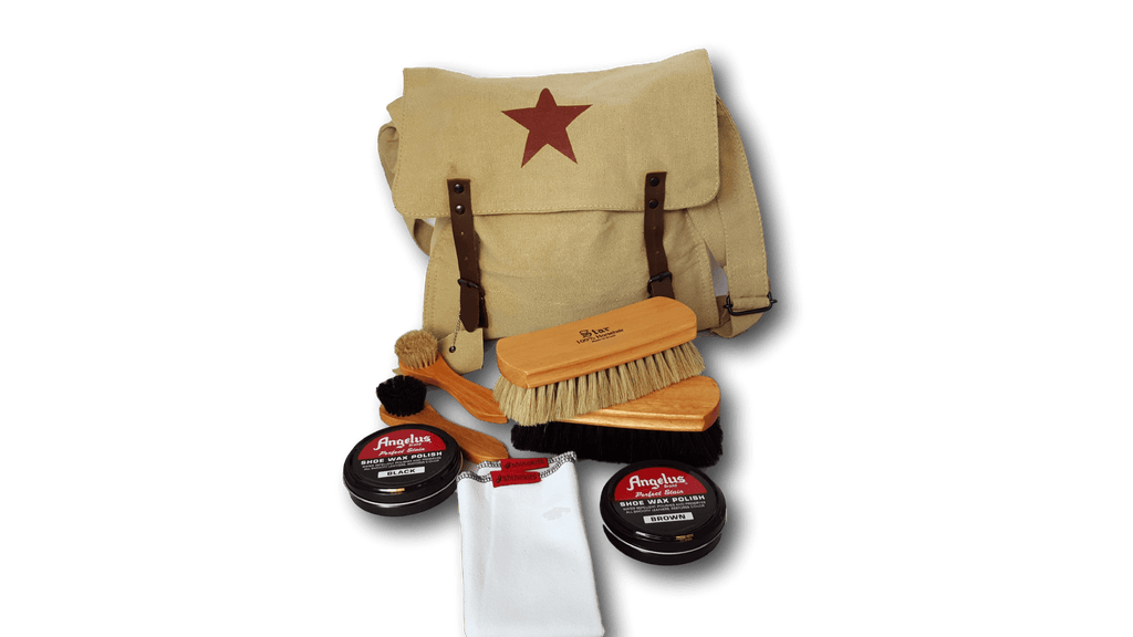 Combat Medic Bag Shoe Shine Kit with Angelus Polish