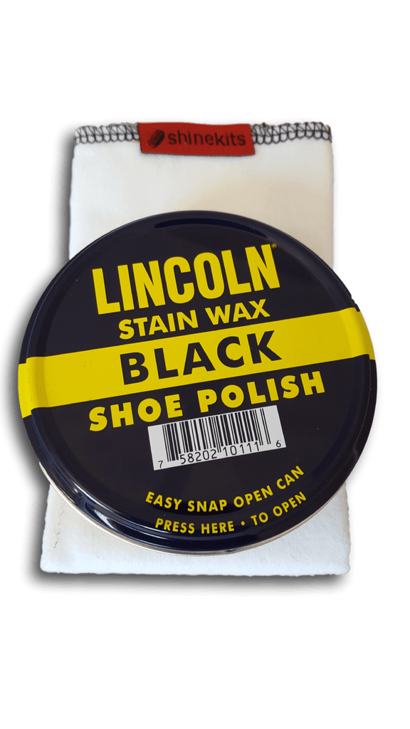 Lincoln Black Shoe Polish & Shoe Shine Cloth