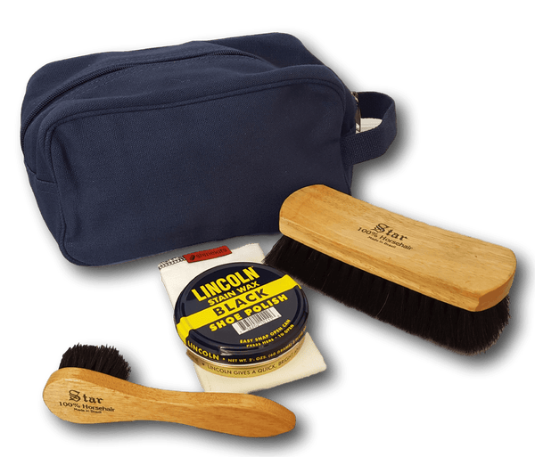 Lincoln Shoe Polish Military/Service Canvas Shoe Shine Kit