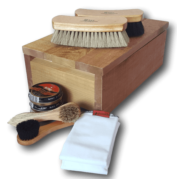 Kiwi Military/Service Parade Gloss Black Cedar Fence Board Shoe Shine Kit