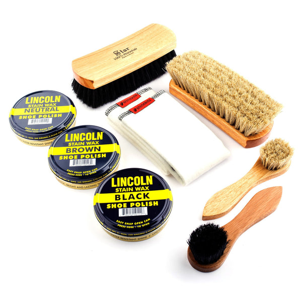 Lincoln and Star Brushes and Polish Kit