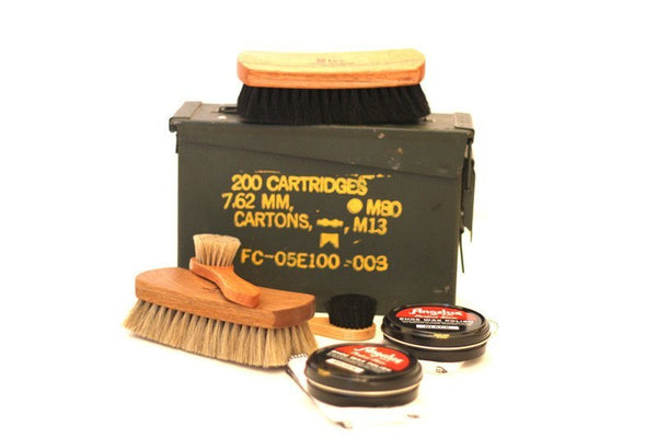 Ammo Can Shoe Shine Kit