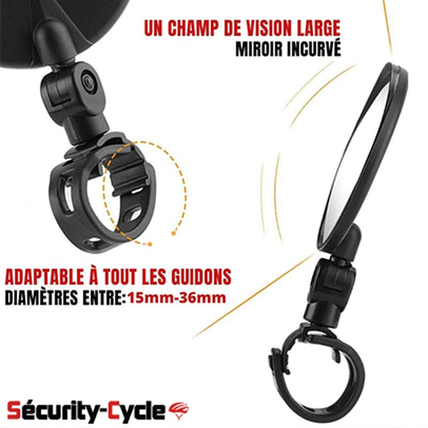Paire de rétroviseurs ajustables Security-cycle™