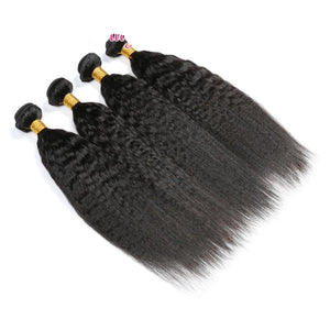 "Brazilian Hair Kinky Straight Hair Brazilian Hair Weave Bundles 1/3/4 Pieces Remy Human Hair Extension  8""-30"""