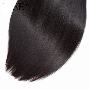 Peruvian Straight Hair Extensions Human Hair Bundles No Tangle Nature Color Can Buy 1/3/4 Bundles Remy Hair Bundles