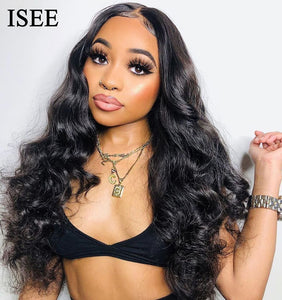Body Wave Lace Front Wigs For Black Women 13X4 Malaysian Lace Wigs Remy ISEE HAIR Wigs 150% Density Lace Front Human Hair Wigs