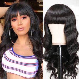 Unice Hair Full Machine Wigs Brazilian Body Wave long Lace Front Human Hair Wigs Pre Plucked For Black Women Remy Hair
