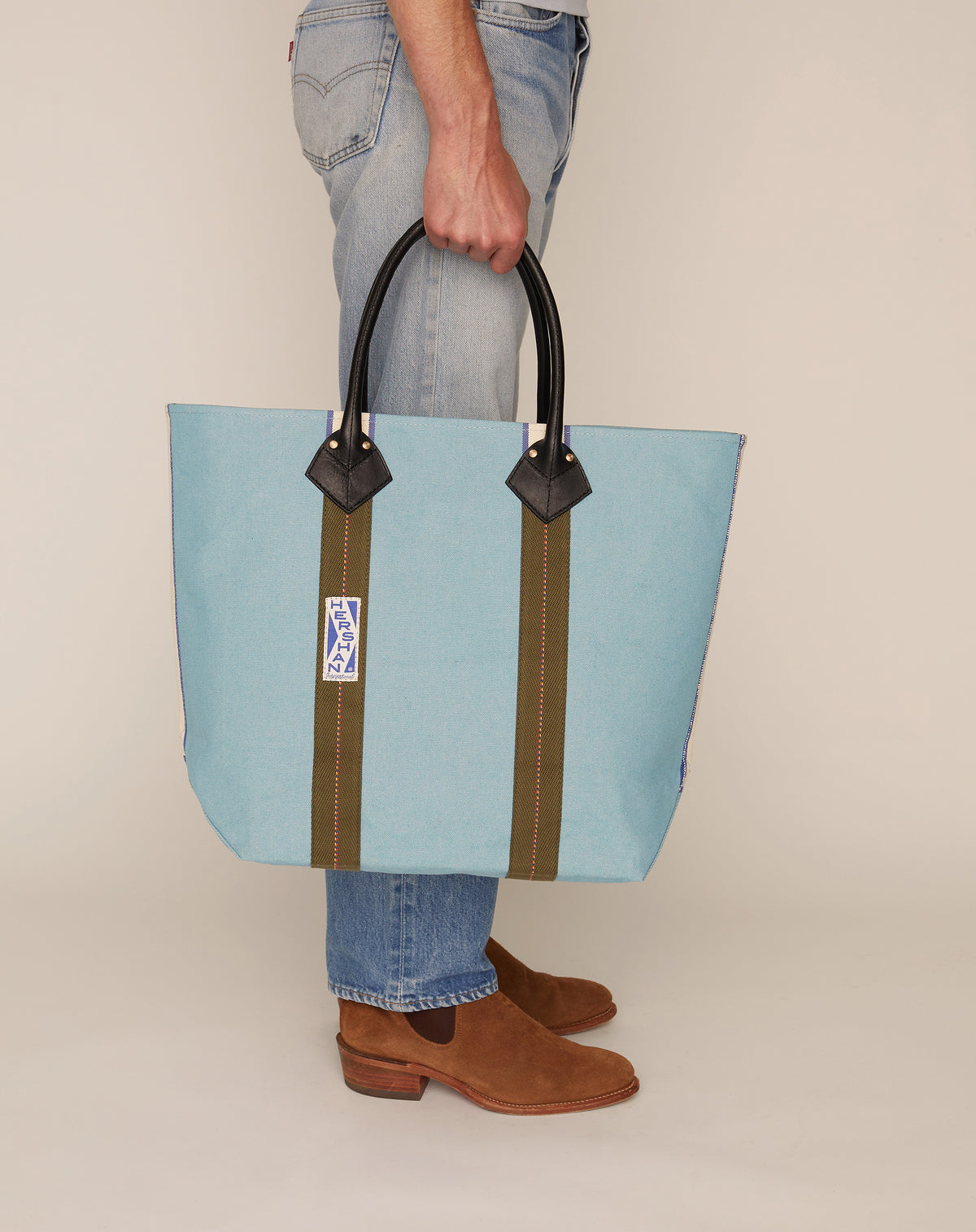 Medium Utility Tote - Azure
