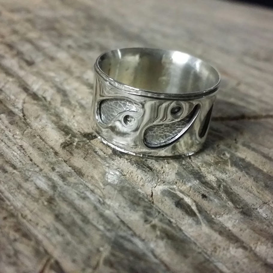 Pierced Silver Overlay Ring