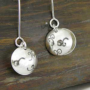 Domed Disc Earrings