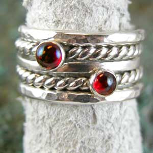 Virtual Silver Stacking Rings-LIVE