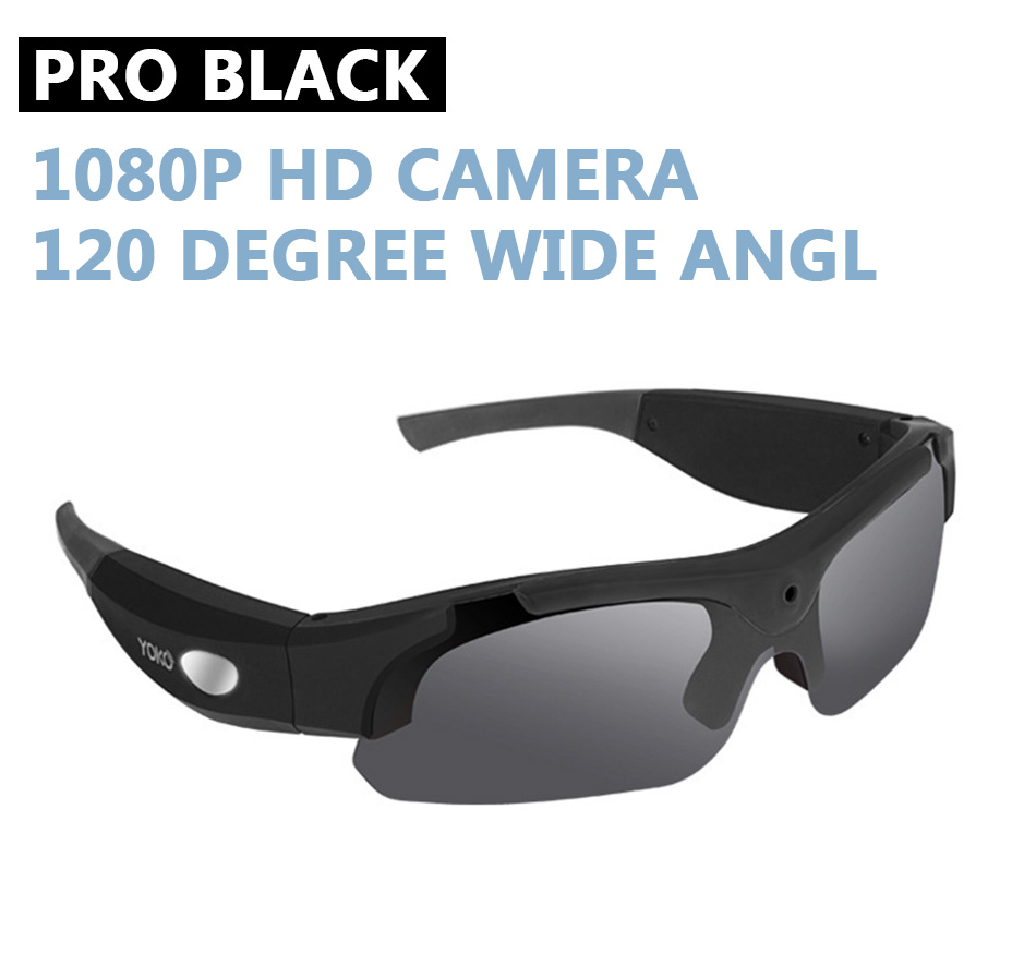 Amazing Spy Sunglasses| Audio Microphone| 1080p HD Camera| 120°Wide Angle Lens