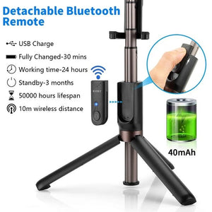 (SUMMER HOT SALE )3 In 1 Wireless Bluetooth Selfie Stick