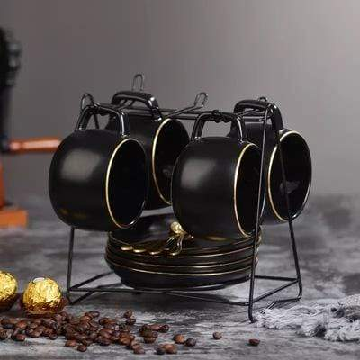 Blacked Out Teacup Collection Set