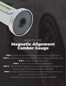 Magnetic Camber Alignment Gauge