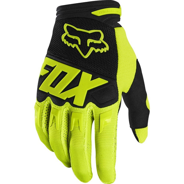 FOX DIRTPAW GLOVES FLO YELLOW LARGE