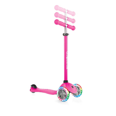GLOBBER 3 WHEEL SCOOTER PRIMO LIGHTS NEON PINK