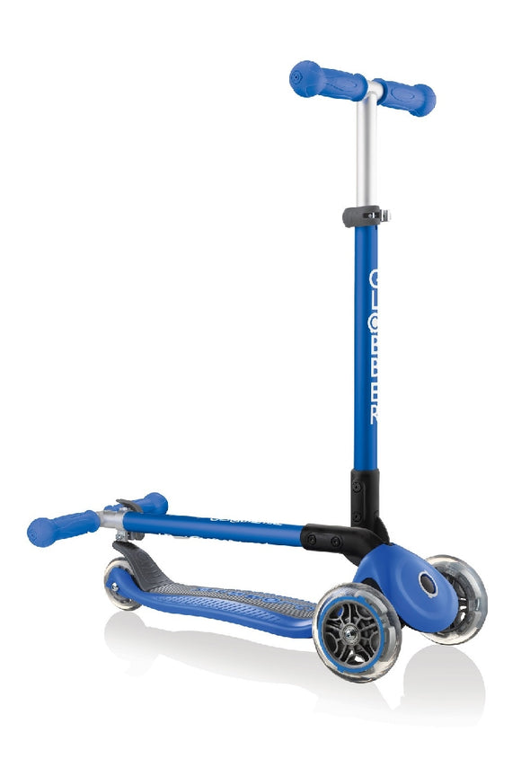 GLOBBER 3 WHEEL SCOOTER PRIMO FOLDABLE NAVY BLUE