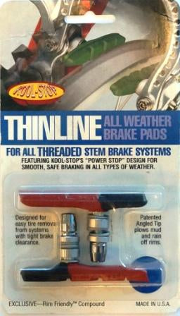 KOOL STOP BRAKE PADS THINLINE DUAL COMPOUND V-BRAKE