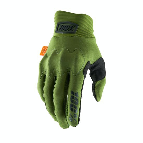 100% COGNITO GLOVES ARMY GREEN SMALL