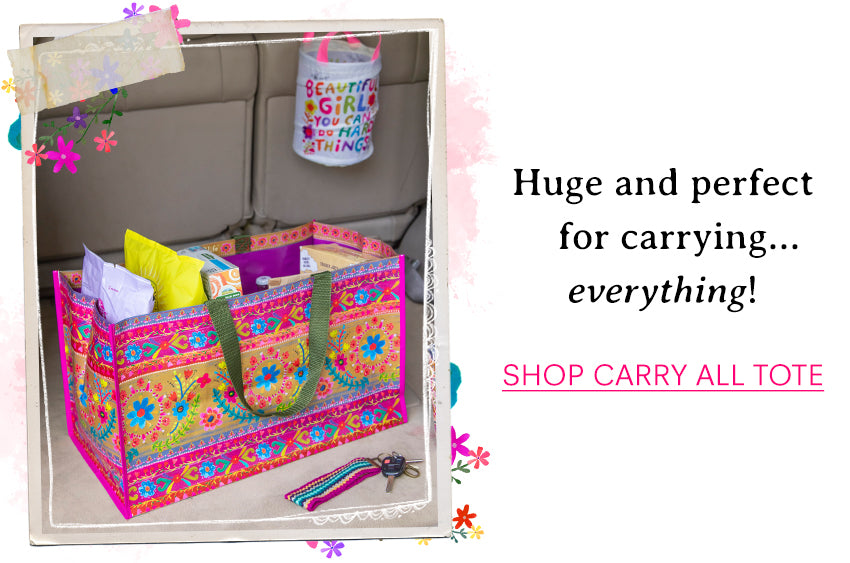Huge and perfect for carrying...everything! Shop carry all tote