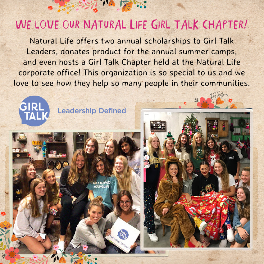We love our Natural Life Girl Talk chapter!