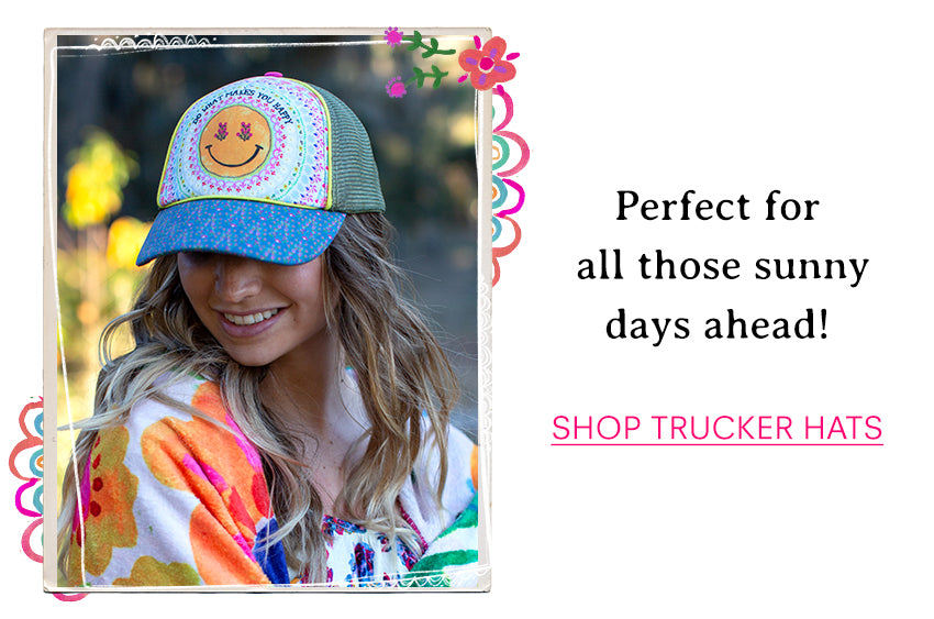Perfect for all those sunny days ahead! Shop trucker hats