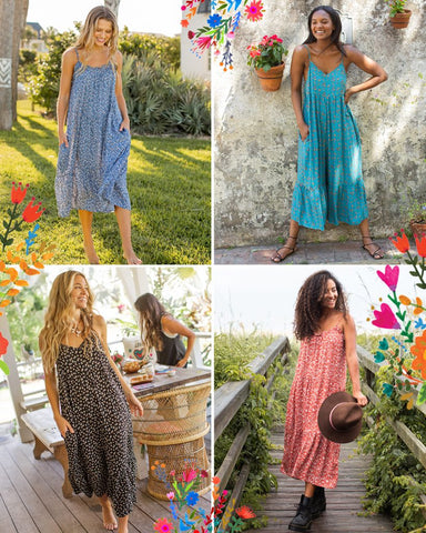 Girls modeling Natural Life clothes