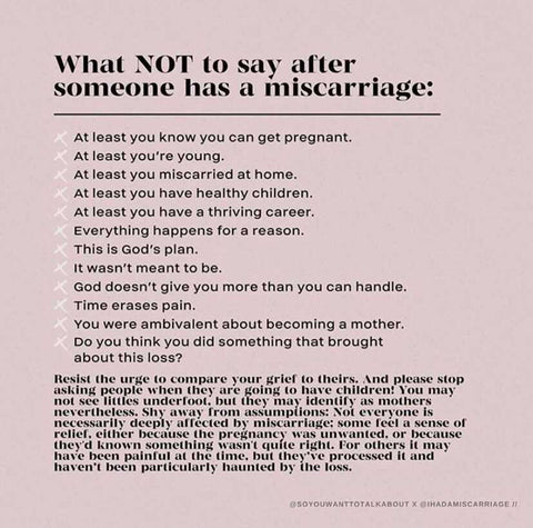 What not to say after someone has a miscarriage
