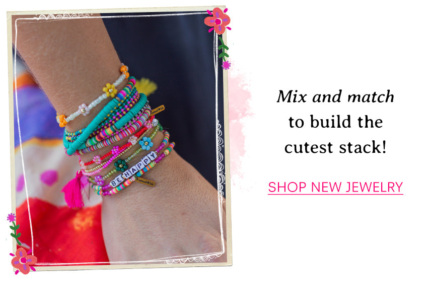 Mix and match to build the cutest stack! Shop new jewelry