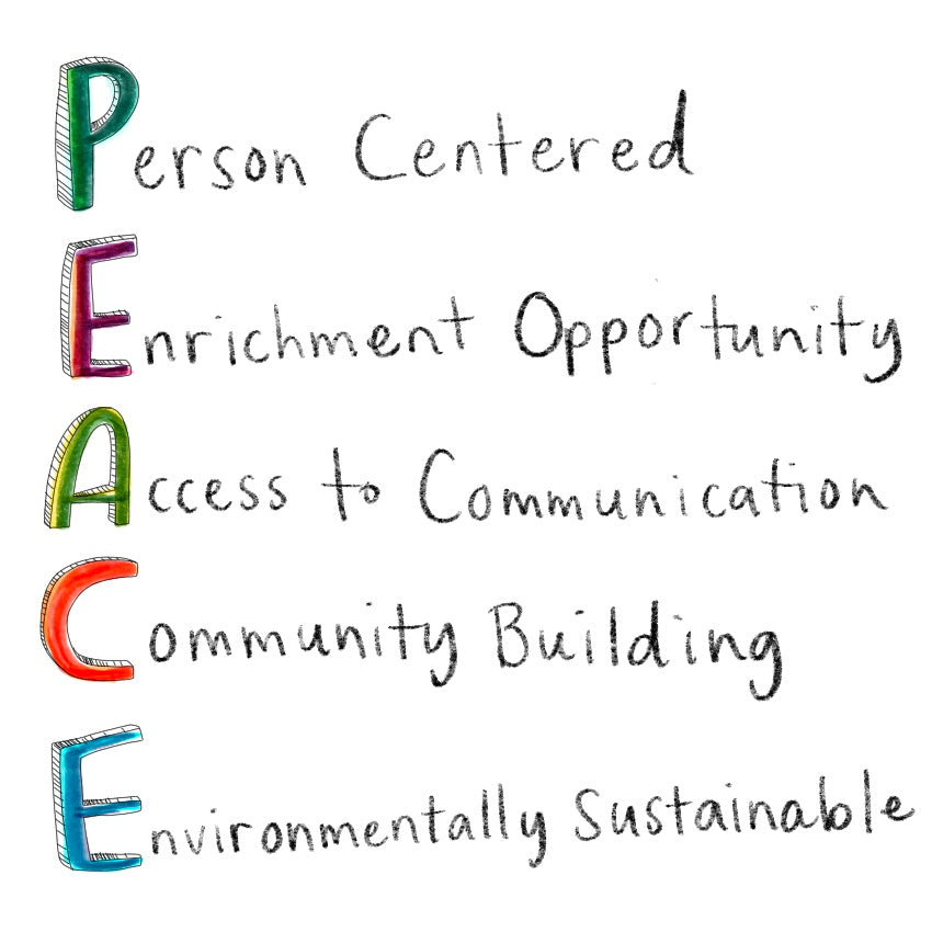 Person Centered Enrichment Opportunity Access to Communication Community Building Environmentally Sustainable