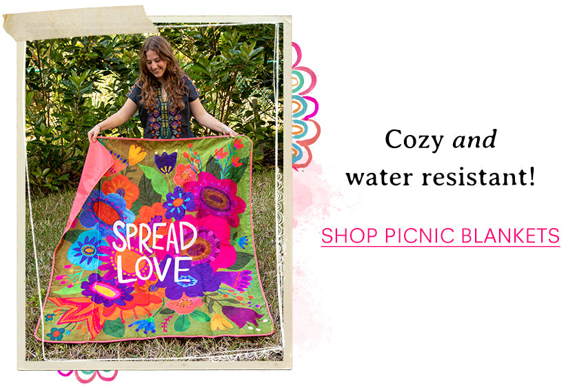 Cozy and water resistant! Shop picnic blankets