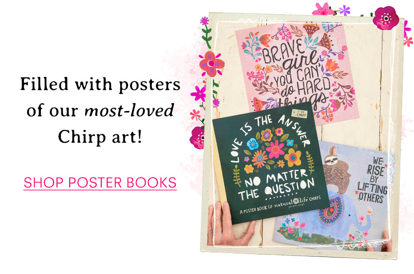 Filled with posters of our most-loved Chirp art! Shop poster books