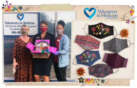 Natural Life masks which give back to Volunteers In Medicine