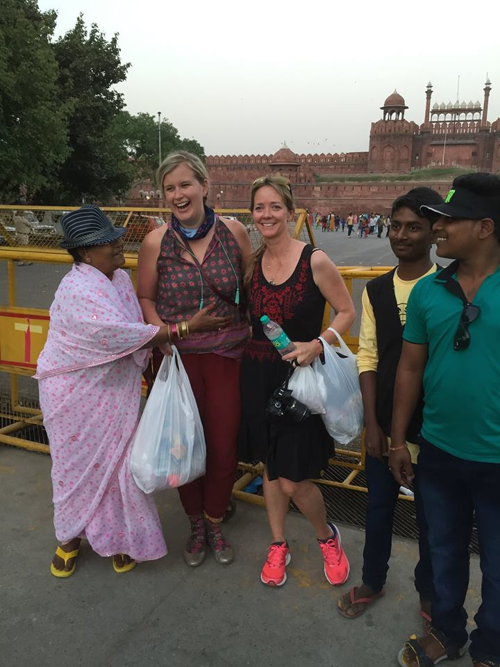 Adrienne and Allison in India